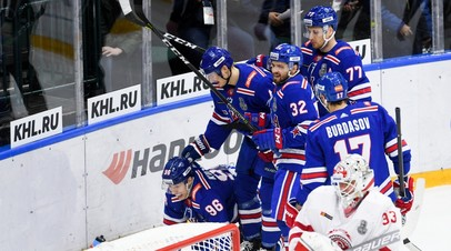 Хет-трик Кузьменко помог СКА разгромить «Витязь» в матче плей-офф КХЛ