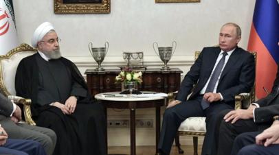 Рухани пригласил Путина на саммит астанинской тройки