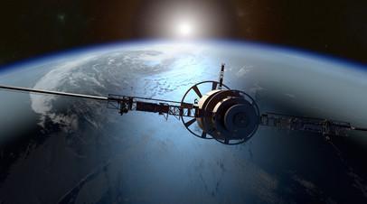 Искусственный спутник на орбите