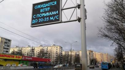 В РАН объяснили сильный ветер в Москве