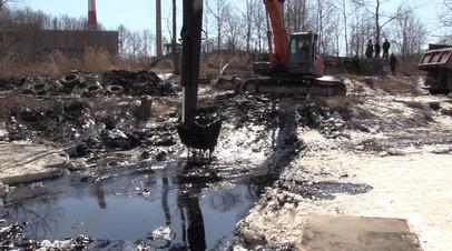 Ликвидация последствий утечки мазута в Находке — видео