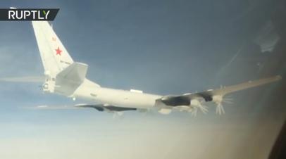Полёт Ту-142 над Тихим и Северным Ледовитым океанами — видео