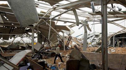 Разрушенное здание в Ираке