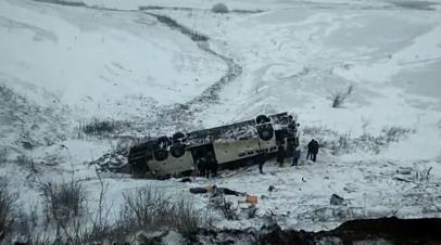 Видео с места аварии в Тамбовской области