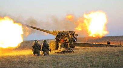 Тренировка российских артиллеристов