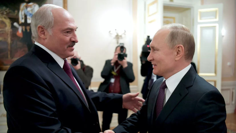 Путин поздравил Лукашенко с Днём единения народов России и Белоруссии