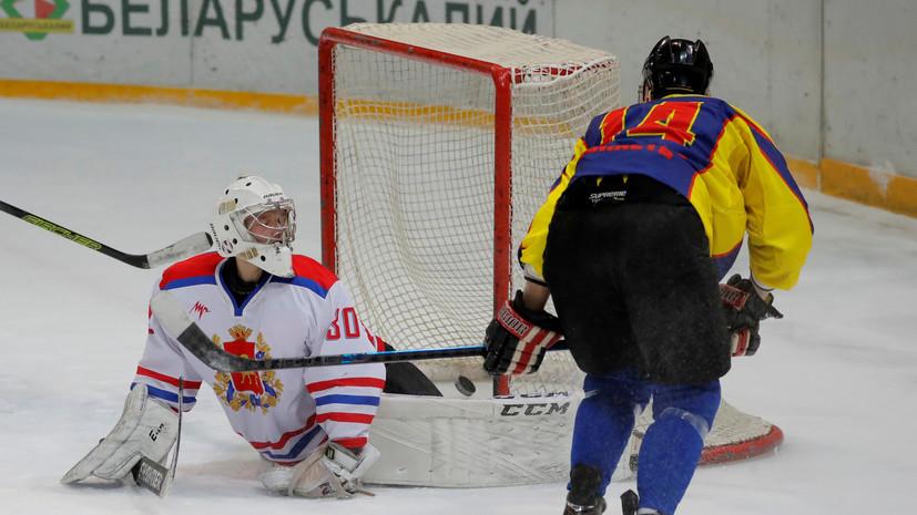 Лукашенко отметился голевой передачей в победном матче команды президента Белоруссии