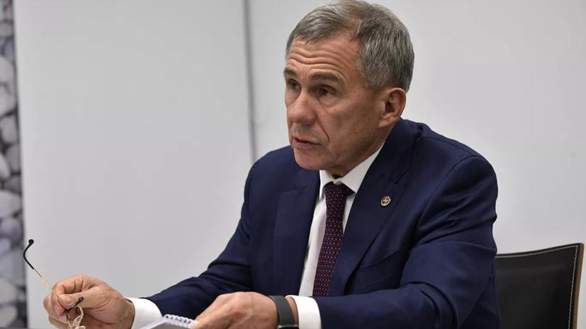 Минниханов провёл онлайн-встречу с самозанятыми Татарстана