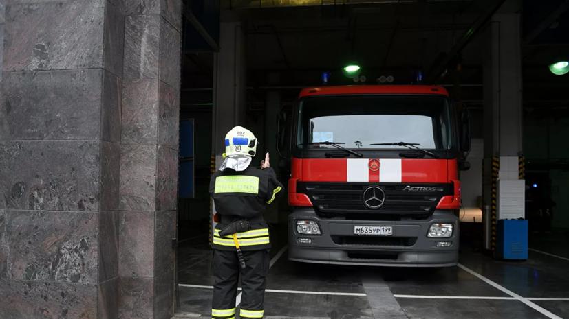 В Ивановской области произошёл пожар в здании швейной фабрики