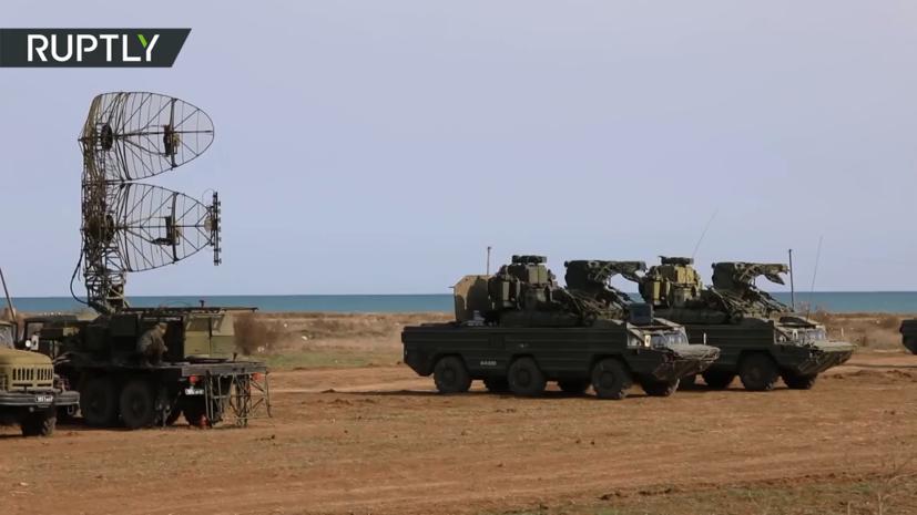 Военные Черноморского флота провели ракетные стрельбы в Крыму — видео