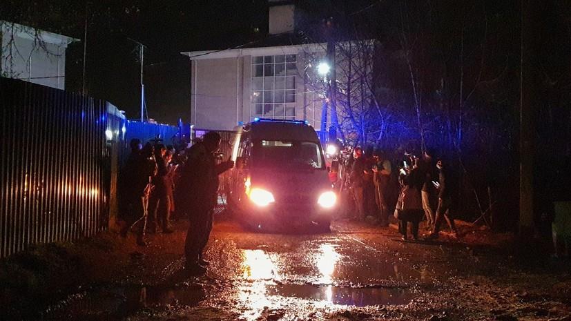Пожарный пострадал при тушении пожара в доме престарелых в Москве