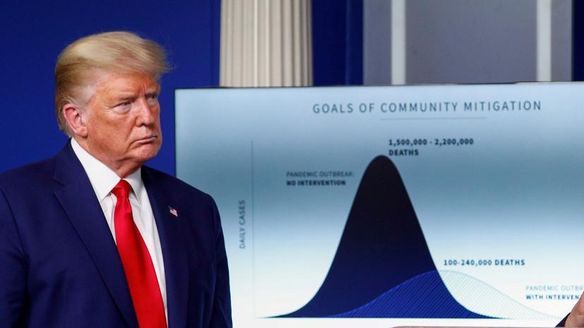 Трамп заявил о выходе США на пик распространения коронавируса