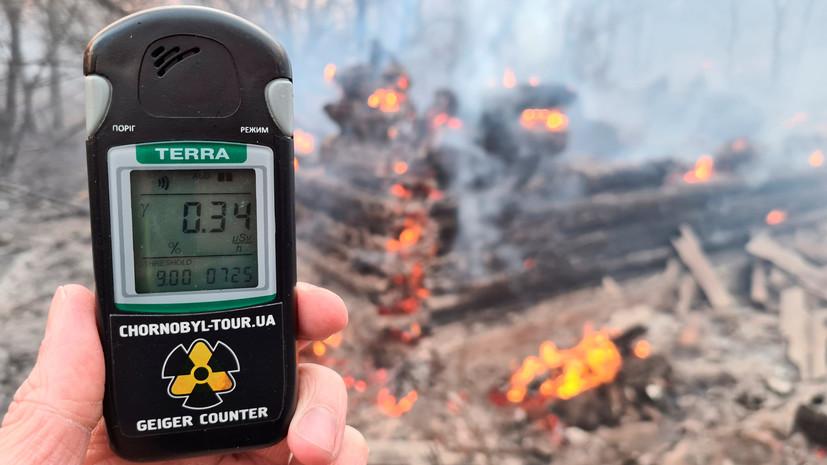 Пожар под Чернобылем распространился на территорию трёх лесничеств