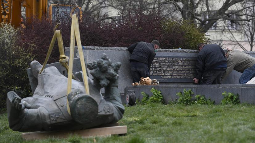 В Совфеде назвали кощунством снос памятника маршалу Коневу в Чехии