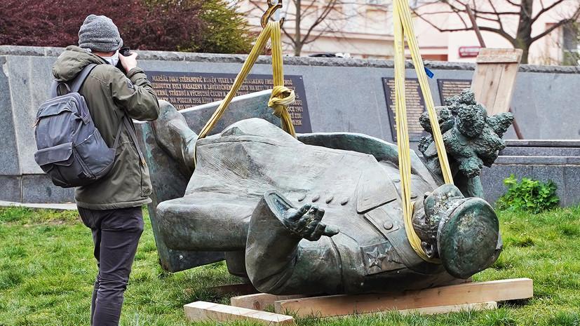 «Циничные действия муниципальных властей Праги»: СК возбудил дело после сноса памятника маршалу Коневу