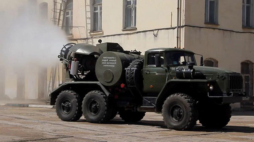 ЧФ провёл дезинфекцию судостроительных заводов Крыма