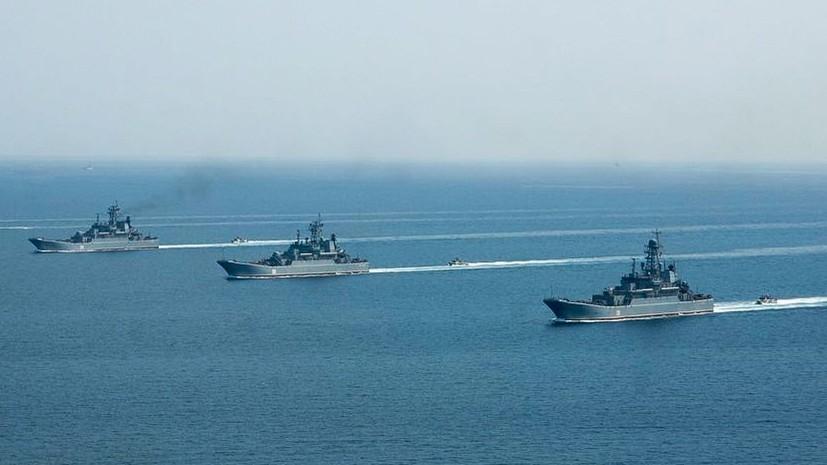 Черноморский флот отработал уничтожение кораблей условного противника
