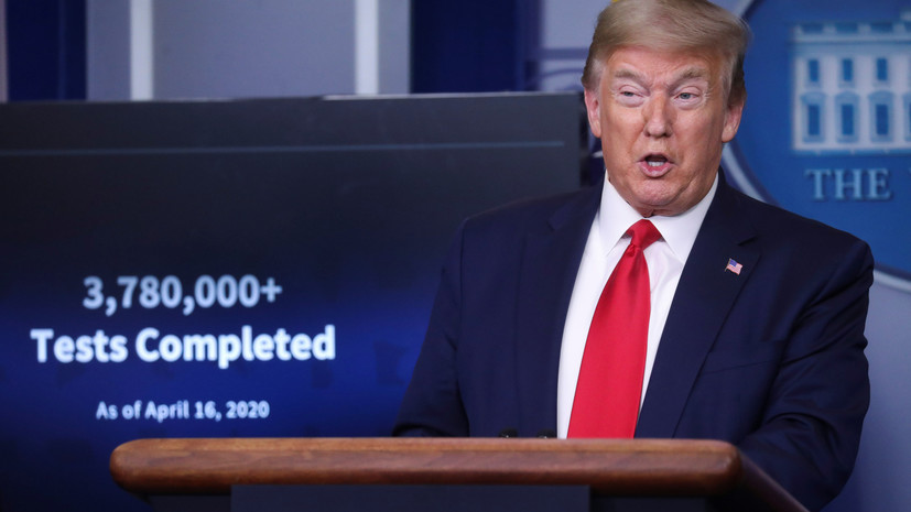 Трамп сообщил прогноз относительно числа жертв коронавируса в США