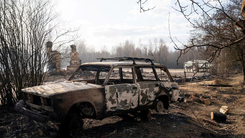 На Украине рассказали о последствиях пожаров в чернобыльской зоне