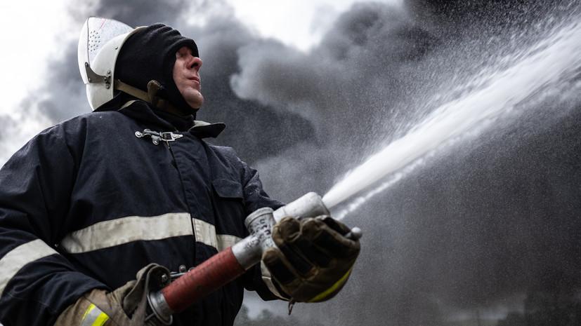 В Туле загорелся завод по производству битума