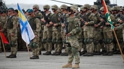 Грузинские и украинские военные на совместных учениях НАТО в Грузии
