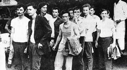 Пакистан. 1990 год. Константин Шатохин восьмой слева
