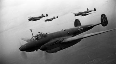 Бомбардировщики времён Великой Отечественной войны Пе-2, на которые устанавливались БРЛС «Гнейс-5М»