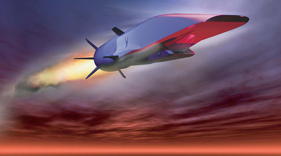 Модель разрабатываемой гиперзвуковой крылатой ракеты X-51A Waverider