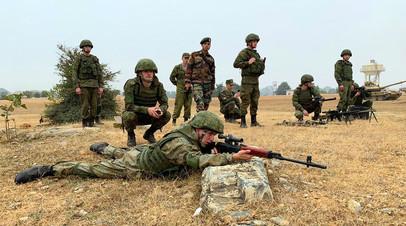 Российские снайперы на полигоне