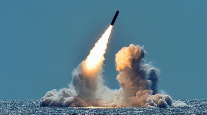 Учебный пуск ракеты Trident II D5 с подводной лодки USS Nebraska, 2018 год