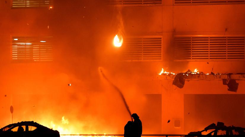 В ОАЭ произошёл крупный пожар в небоскрёбе
