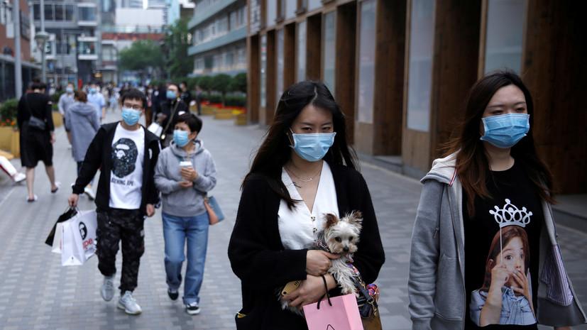 В Китае выявили один новый случай коронавируса за сутки