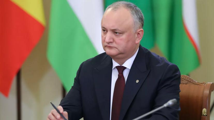 Додон предложил провести президентские выборы в Молдавии 1 ноября