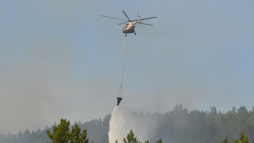 В Красноярске ликвидирован крупный пожар в лесном массиве