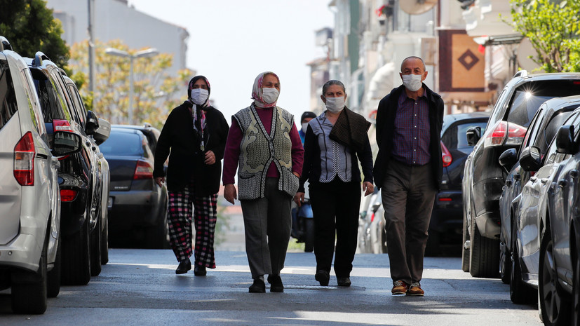 За сутки в Турции выявили 1610 новых случаев коронавируса