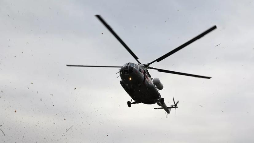 При крушении военного вертолета в Подмосковье погибли три человека