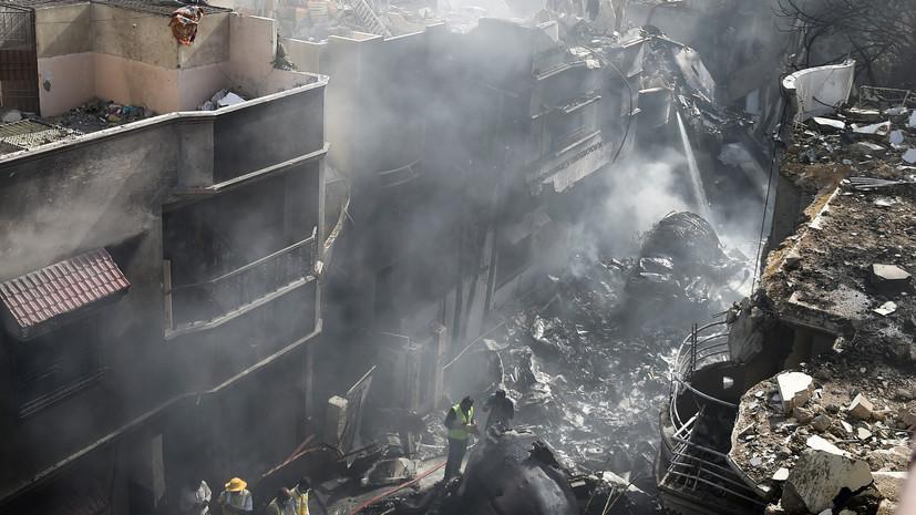 По меньшей мере 97 погибших: что известно о крушении пассажирского самолёта Airbus A320 в Пакистане