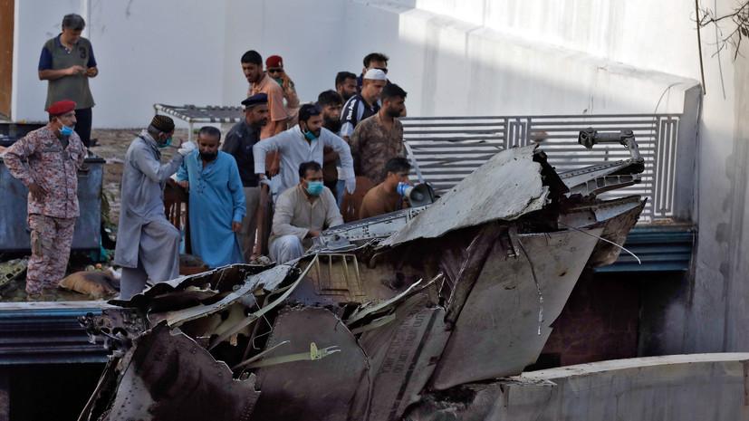 Число погибших в результате крушения самолёта в Пакистане возросло до 97