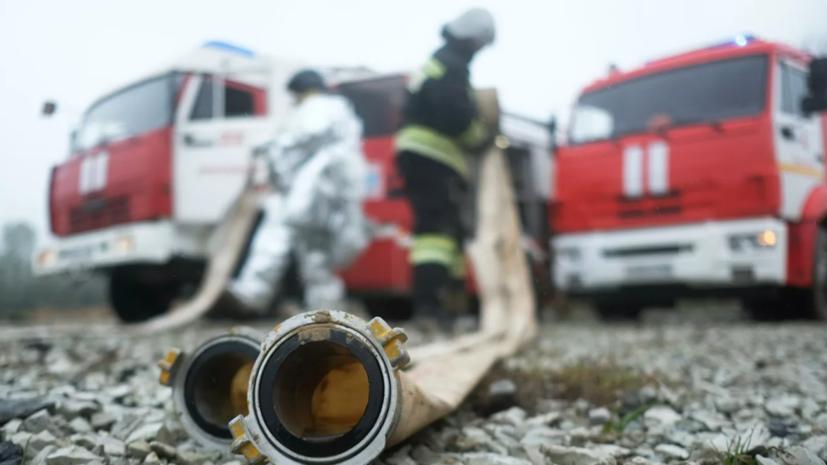 Крупный пожар в Самарской области частично локализован