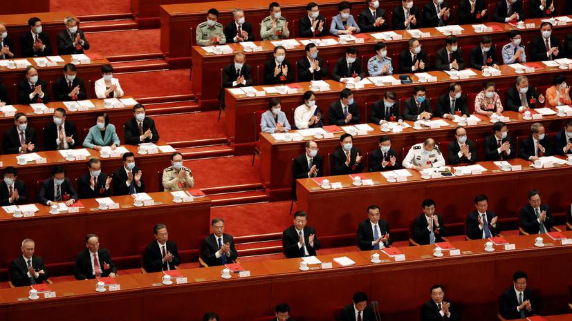 В Китае приняли резолюцию о разработке закона о безопасности в Гонконге