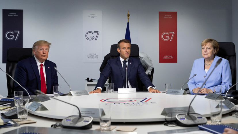 США получили положительные отклики от лидеров G7 на идею очной встречи