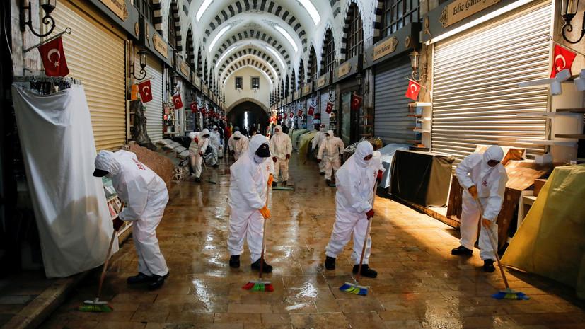 За сутки в Турции выявили более 1100 больных коронавирусом