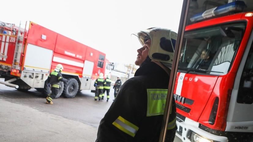 В Москве произошёл пожар на железнодорожной станции Выхино