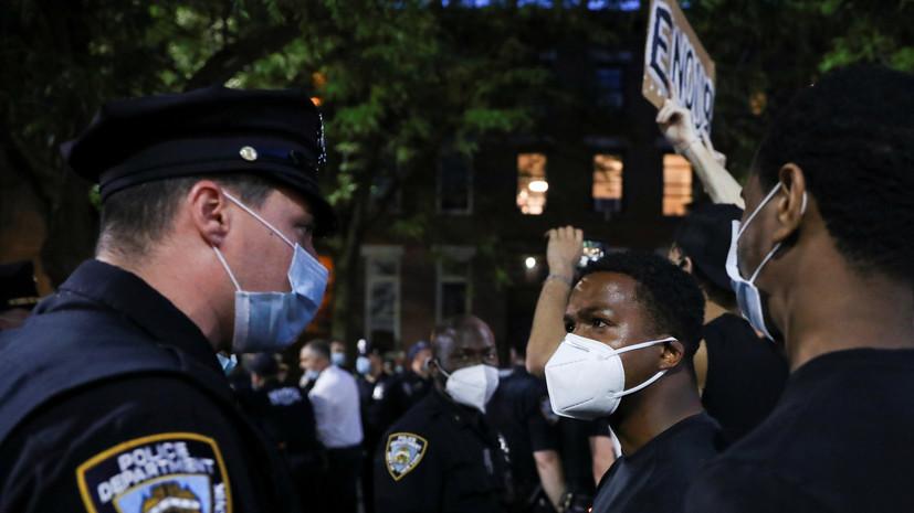 Беспорядки прошли в городах США после смерти афроамериканца Флойда