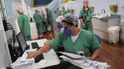 В Бразилии за сутки скончался 751 человек с коронавирусом