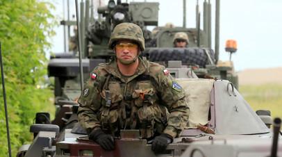 Польский солдат на учениях в Подляском воеводстве