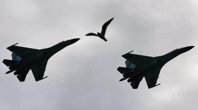 Российские истребители поднялись на перехват бомбардировщиков США