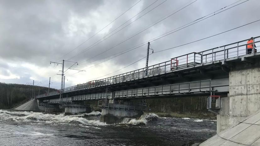 Железнодорожный мост обрушился под Мурманском