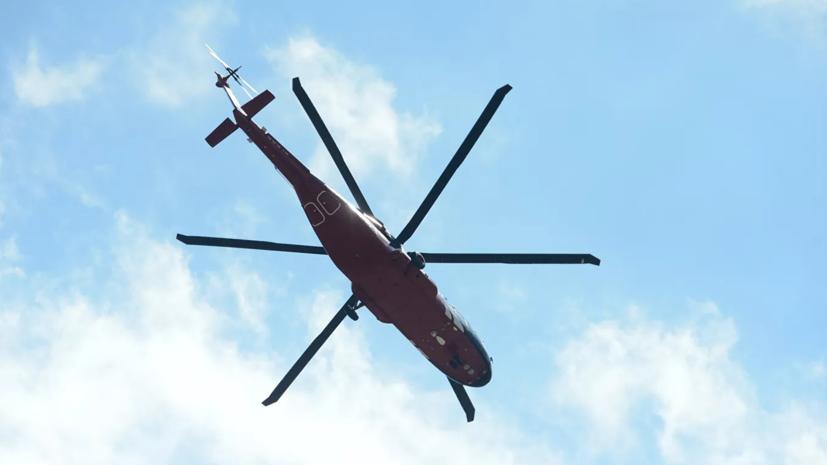 Опубликовано видео экстренной посадки вертолёта Ми-38 в Подмосковье