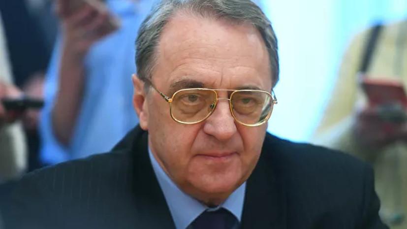 Богданов обсудил с послом Египта ситуацию в Ливии